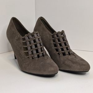 Impo Stretch Booties Gray Suede - Like Size 8